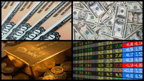 Bonds, Cash, Gold, Stocks