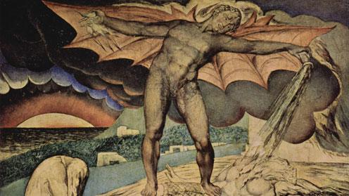 The Examination of Hiob by William Blake
