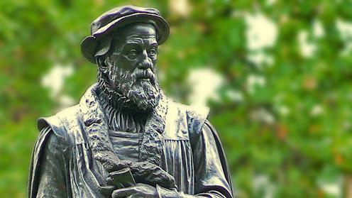 William Tyndale (Victoria Embankment) by Sir Joseph Edgar Boehm